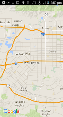 San Gabriel Valley Google Maps Screenshot